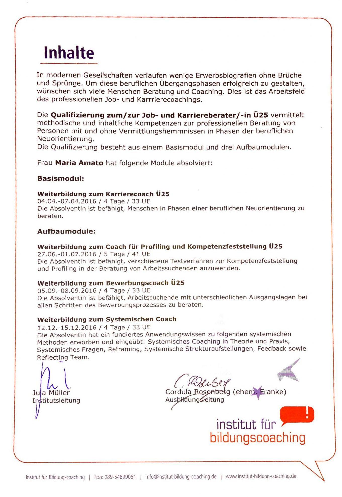 Zertifikat - Qualifizierung zum/zur Job- und Karriereberater/in Ü25